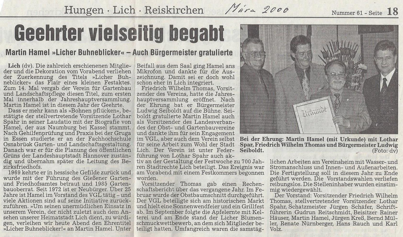 VGL Lich, Verein für Garten- und Landschaftspflege Lich e.V.